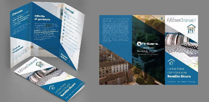 Creazione siti web, logo, grafica, marketing Milano stanze brochure