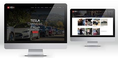 Creazione sito web wordpress Tesla owners Milano