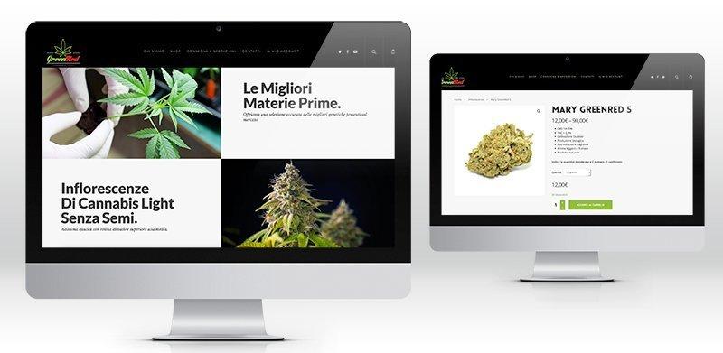 Creazione sito web canapa legale