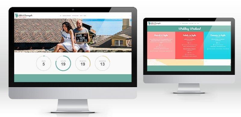 Creazione sito web matrimonio