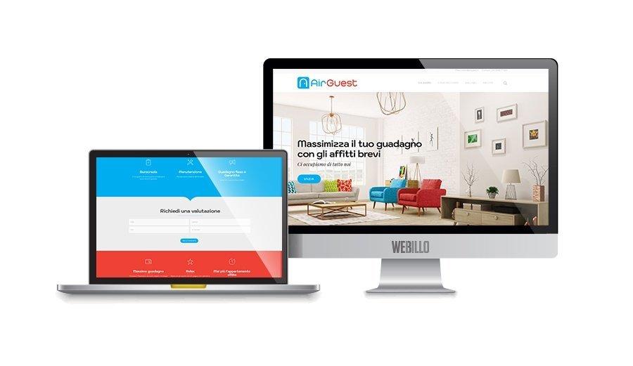 Creazione Siti web wordpress Milano AirGuest