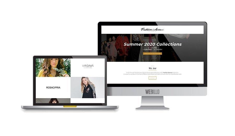 Creazione landing page Fashion Evenue