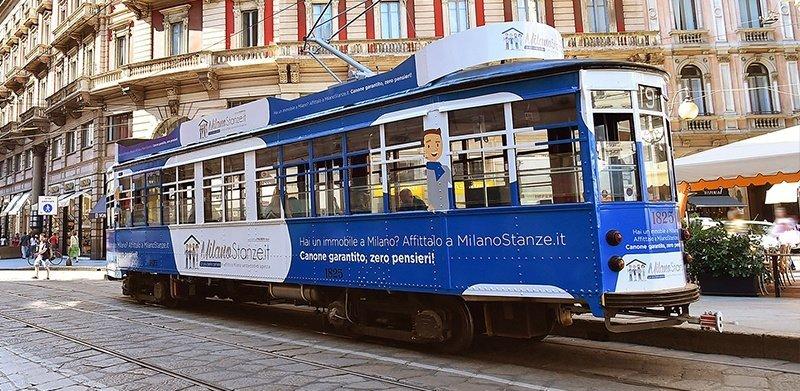 pubblicità tram milano